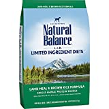 Natural Balance L.I.D. Limited Ingredient Diets Dry Dog Food, Lamb Meal & Brown Rice Formula, 28-Pound