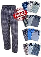Andrew Scott Men's 3 Pack Fancy Lounge Sleep Pants