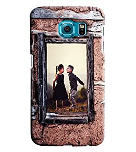 Blue Throat Boy And Girl Enjoying Printed Designer Back Cover/ Case For Samsung Galaxy S7