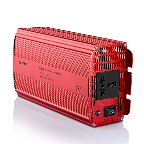 BESTEK 1000w inverter 2400w Peak Power DC 12v to AC 230v voltage converter power supply charger 12v car battery backup power charger inverter power solor charger battery boat power motor marine inverter power supply emergency power pack outdoor unit power source emergency charger power home appliances converters power 12v inverter generator electrical appliances converter for use in Caravan, boat,car,Van MRI10013