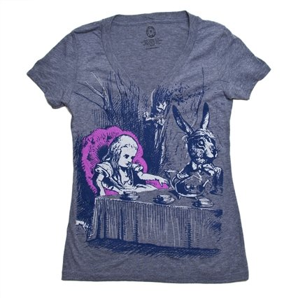 """Alice in Wonderland"" Women's Slim Fit V-neck T-shirt"