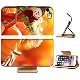 MSD Apple iPhone 6 Plus iPhone 6S Plus Flip Pu Leather Wallet Case Scarecrow and pumpkins on colorful autumn background IMAGE 20901827