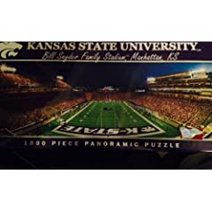 Buy MasterPieces Puzzle Company NCAA Kansas State Wildcats Stadium Panoramic Jigsaw Puzzle (1000-Piece) by MasterPieces Puzzle Company