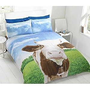 Housse de couette vache cuisine maison for Housse de couette vache