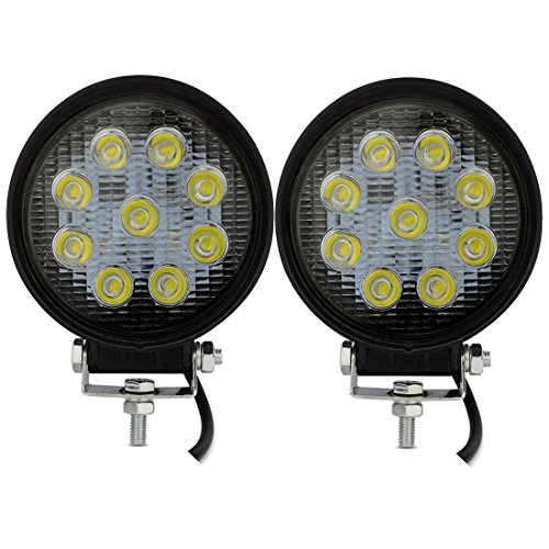 Led Lights For Lawn Tractor : Safego v w led work lights lamp for truck offroad atv tractor degree flood beam