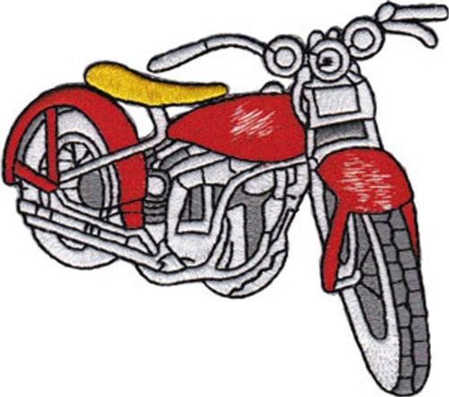 Application Vintage Red Bike Patch - 1