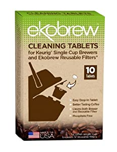 Ekobrew Cleaning Tablets for Keurig Single Cup Brewers and Ekobrew Reusable Filters