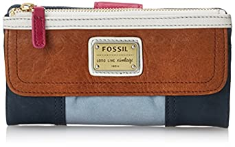 Fossil Emory Zip Wallet, Blue Multi, One Size