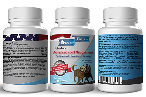 Best Advanced Joint Supplement For Dogs Available. Ingredients Sourced In The Usa 100% Satisfaction Money Back Guarantee. Including Regenasure® Glucosamine, Purformsm® And Chondropure® Chondroitin. Pain Relief From Arthritis, Hip And Joint Discomfort. For