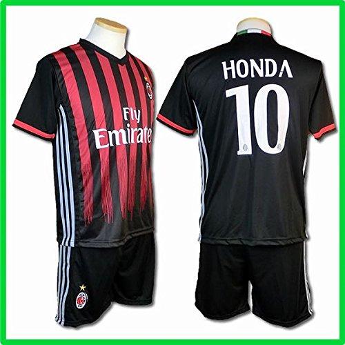 サッカーユニフォーム 2017モデル ACミラン ホーム 本田圭佑 HONDA 背番号10 レプリカサッカーユニフォーム 子供用 L