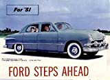 img - for BEAUTIFUL 1951 FORD PASSENGER CARS DEALERSHIP SALES BROCHURE Covers Crestliner, Business Coupe, Custom, Club Coupe, Country Squire Wagon, Tudor Sedan, Fordor, Convertible - ADVERTISMENT - OPTIONS - ACCESSORIES book / textbook / text book