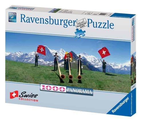 Swiss Flag Wavers 1000 Piece Puzzle