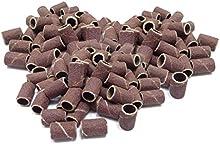 Cosi Nails - Cilindros abrasivos, lijas para reconstrucción de uñas (100 unidades) Granulado grueso (80 grit).