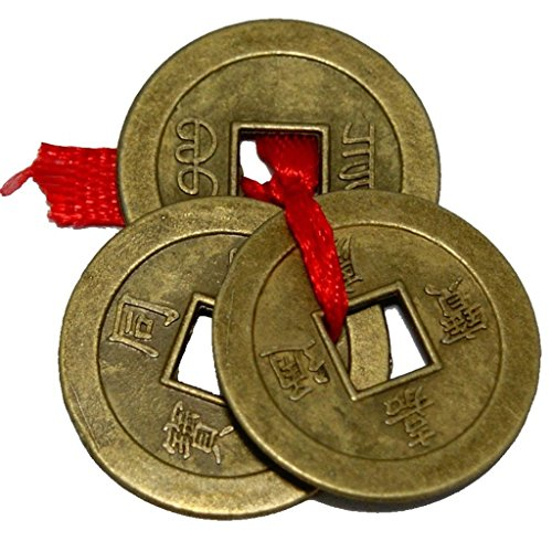 Odishabazar Feng Shui 3 Pcs Coin Set showpiece - 2.5 cm  available at amazon for Rs.99