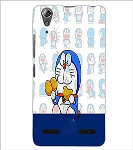PrintDhaba Graffiti D-4975 Back Case Cover for LENOVO A6000 (Multi-Coloured)