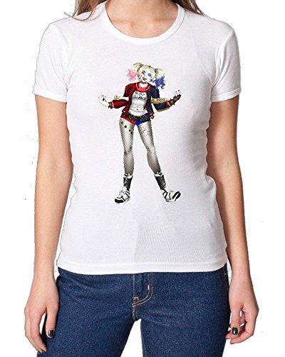 Suicide Squad Harley Quinn Colorful Portrait maglietta da donna Small