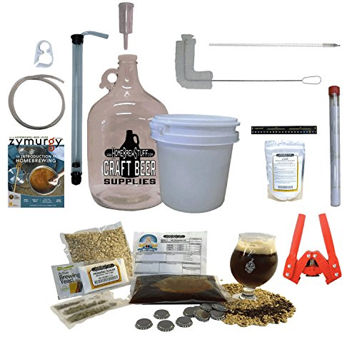 HomeBrewStuff 1 Gallon Table Top Nano-Brewery Beginner Equipment Kit With Recipe Kit (Session IPA Recipe) (Malt Extract Ipa compare prices)