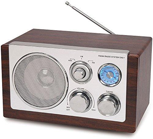 RADIO AM/FM IM RETRO DESIGN NOSTALGIE INKL. AUX EINGANG KÜCHENRADIO