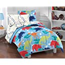 Dinosaur Prints Multicolor 5 Piece Twin Comforter Set