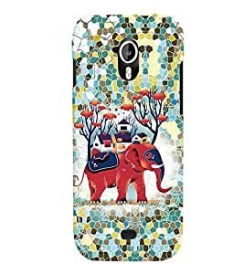 Fuson 3D Printed Cartoon Designer back case cover for Micromax Canvas HD A116 - D4252