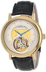 Stuhrling Original Men's 502.333X2 Tourbillon Circular Limited Edition Mechanical Gold Tone Watch
