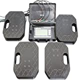 """Proform 67650 Vehicle Scale System Kit  with 14-1/2"""" x 9-1/2"""" x 2-1/2"""" 4-Scale Pads - 1,250 lbs. Capacity Per Scale"""