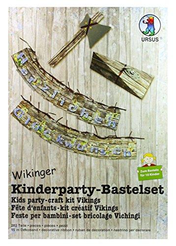 24410099 - Kinderparty Bastelset Wikinger  282 Teile  zum Basteln für 10 Kinder