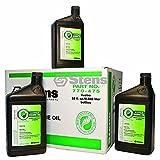 Stens Bio 4-cycle Engine Oil / 10W30-SJ Wt, Twelve 32 Oz. Btl