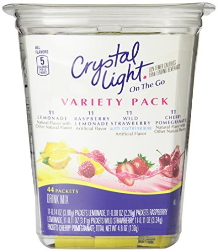 Crystal Light On The Go Drink Mix, Variety Pack, 44 Count
