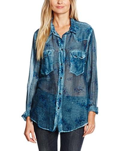 MELTIN'POT Camisa Mujer Azul M