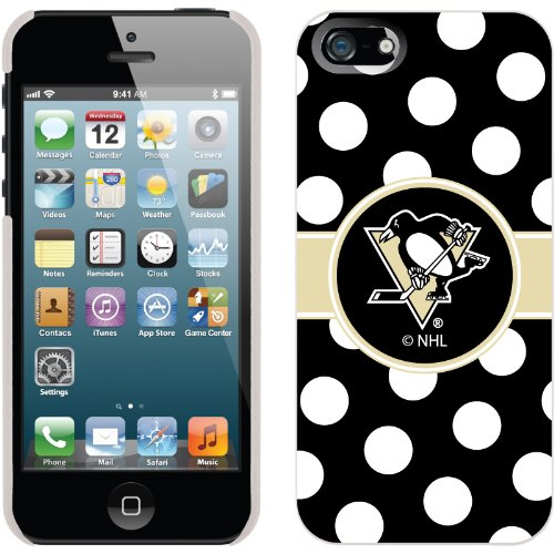Best Price Pittsburgh Penguins« - Polka Dots design on a White iPhone 5s / 5 Thinshield Snap-On Case by Coveroo