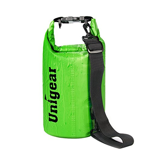Dry Bag Sack, Waterproof Floating Dry Gear Bags for Boating, Kayaking, Fishing, Rafting, Swimming, Camping and Snowboarding (Green, 10L) (Camping Trolley compare prices)