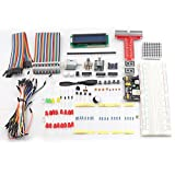 Sunfounder Project Super Starter Kit for Raspberry Pi Model B+ w/ 40-Pin GPIO Extension Board, GPIO Cable, H-Bridge L293D, ADXL335, DC Motor, 7-Segment, Dot Matrix Display