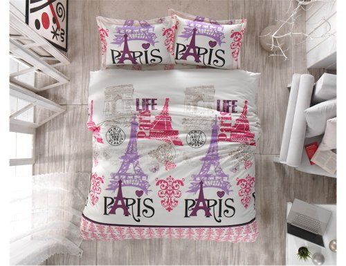 Eiffel Tower Bedding Twin 7680 front