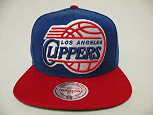 Mitchell and Ness NBA Los Angeles Clippers Big Logo 2 Tone Retro Snapback Cap