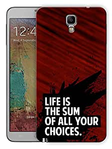"Humor Gang Life And Choice Motivational Quote Printed Designer Mobile Back Cover For ""Samsung Galaxy Note 3 Neo"" (3D, Matte, Premium Quality Snap On Case)"