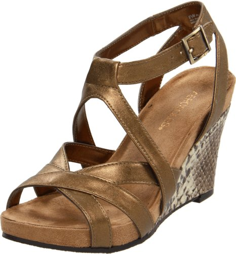 Aerosoles Women's Plush Play Sandal,Gold Combo,9 M US