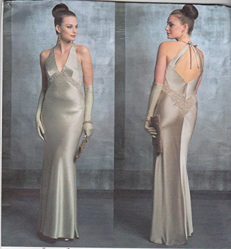 vogue-sewing-pattern-2840-misses-size-18-20-22-bellville-sassoon-evening-gown-formal-halter-dress