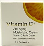 Vitamin C+ Anti Aging Moisturizing Cream with Dead Sea Minerals 1.7 Fluid Ounce