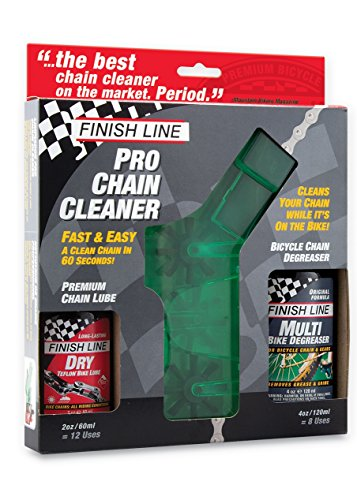 Finish Line Shop Quality Bicycle Chain Cleaner Kit with Lube and Degreaser (Bike Chain Cleaner compare prices)