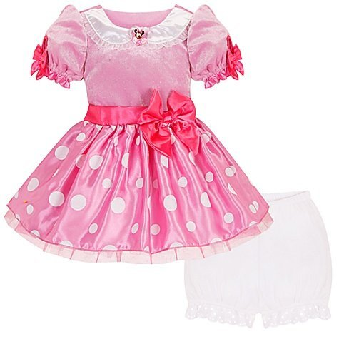 Disney Store Pink Minnie Mouse Costume Dress Size 5T for Toddler Girls