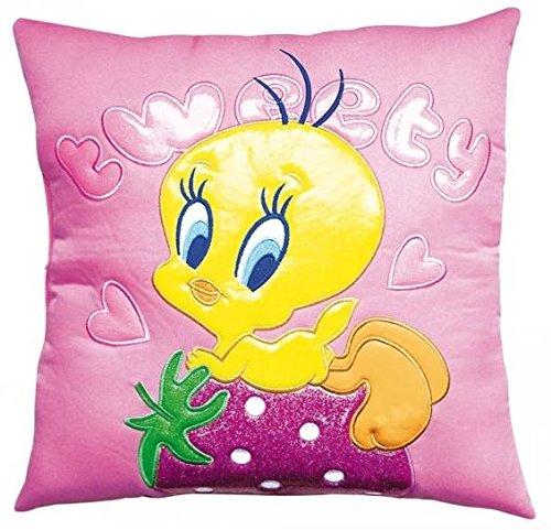 Looney tunes titty cuscino quadrato rosa fragola