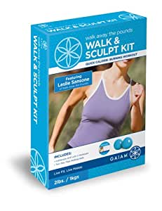 Gaiam Walk Away The Pounds Walk and Sculpt Kit Featuring Leslie Sansone