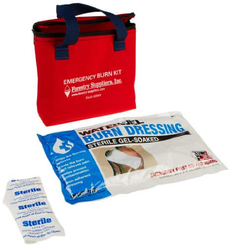 Pac-Kit by First Aid Only 3030 9 Piece Water-Jel Emergency Burn Kit in Fabric Pouch