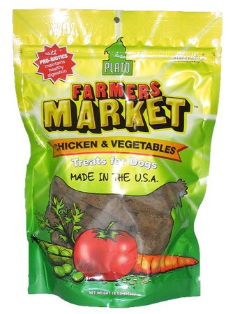Plato Farmers Market Chicken and Vegetables Flavored Dog Treat Strips
