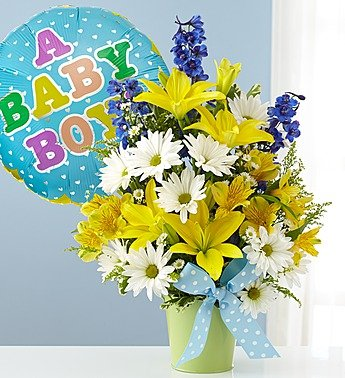 Little Boy Blue Bouquet - Large With Balloon front-797180