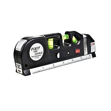 Laser Level Tape measure pro 25 Portable Horizontal Vertical Line Ruler Aligner