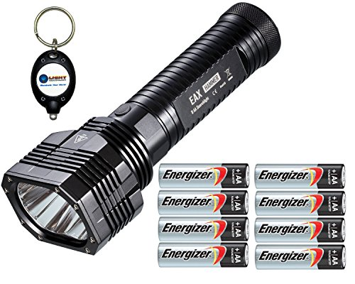 Nitecore Eax Hammer 2000 Lumen Flashlight Combo With 8X Energizer Aa Max Alkaline E91 Batteries And 1X Keychain Light