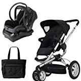 Quinny BUZZ3TRVSTM Buzz 3 Travel System in Black with Diaper Bag
