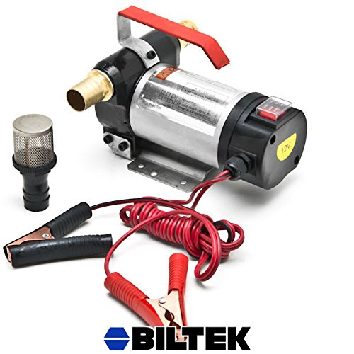 Biltek 12 Volt Fuel Oil Transfer Pump Diesel Kerosene Biodiesel 12V DC 10.5 gpm Pumps (12v Oil Transfer Pump compare prices)